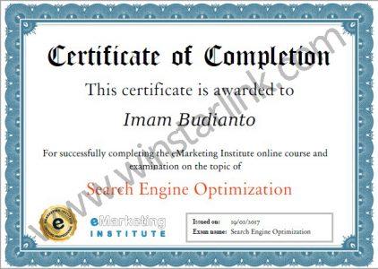 sertifikat lulus seo denmark