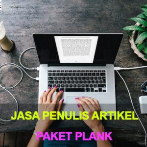 Jasa Penulis Artikel Indonesia paket plank