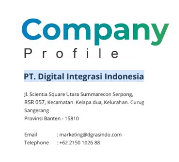 jasa pembuatan desain company profile PT. Digital Integrasi Indonesia