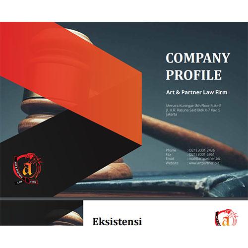 Jasa Pembuatan Desain Company Profile Perusahaan PT-Art-Partner-Law-Firm