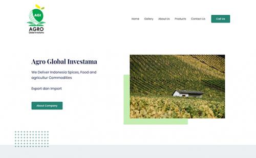 portfolio jasa pembuatan website agro global 1