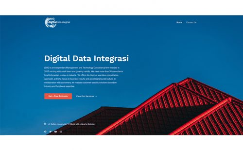 portfolio jasa pembuatan website digital data integrasi 1