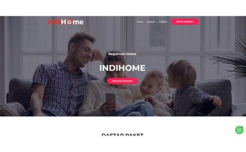 portfolio jasa pembuatan website indihome bekasi 1