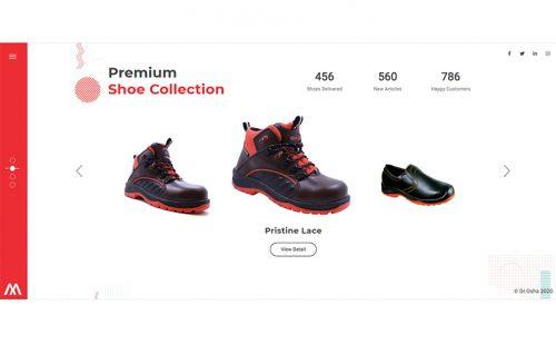 portfolio jasa pembuatan website shoe 1